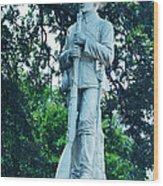 Confederate Soldier Memorial Wood Print