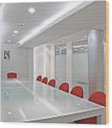 Conference Room Wood Print by Setsiri Silapasuwanchai
