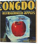Congdon Refrigerated Apples Wood Print