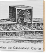 Connecticut: Charter Box Wood Print