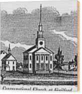 Connecticut: Church, 1836 Wood Print