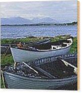 Connemara, Co Galway, Ireland Boats Wood Print