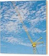 Construction Crane Wood Print