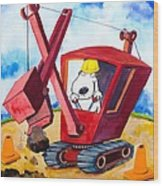 Construction Dogs 2 Wood Print