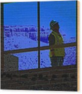 Construction Worker Wood Print