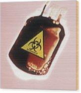 Contaminated Blood Wood Print
