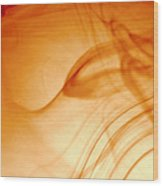 Contemporary Abstract Smoke Wisps Wood Print