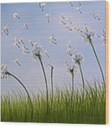 Contemporary Landscape Art Make A Wish By Amy Giacomelli Wood Print