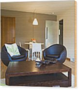 Contemporary Living Room Furniture Wood Print by Inti St. Clair