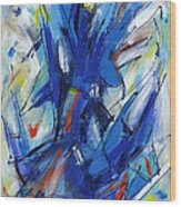 Contemporary Painting Six Wood Print