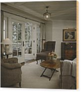Contemporary Sitting Room Wood Print