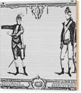 Continental Army Wood Print