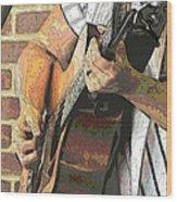 Contorno Guitarist 2 Wood Print