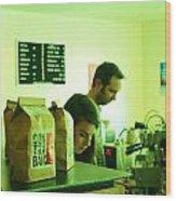 Contraband Coffee Wood Print