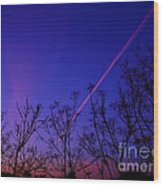 Contrail Contrast Wood Print