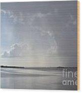 Contrasting Clouds Wood Print
