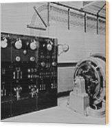 Control Panel And Dynamo Generator Wood Print