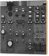 Control Panels Of The Detroit Edison Wood Print