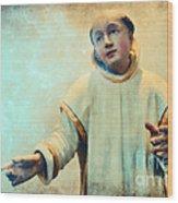 Conversation With God Wood Print