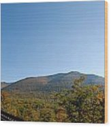 Conway Scenic Railroad - Short Wood Print by Geoffrey Bolte
