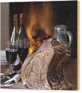 Cooked Rack Of Beef Wood Print by Jon Stokes