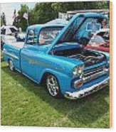 Cool Blues Classic Truck Wood Print