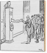 Coolidge Cartoon, 1925 Wood Print