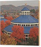Coolidge Park Carousel Wood Print