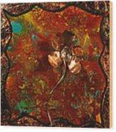 Copper Flower Wood Print
