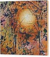 Copper Moon Wood Print