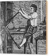 Copper Plate Printer, 1807 Wood Print