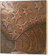 Copper Stars Wood Print