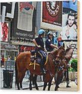 Cops In Manhattan Wood Print