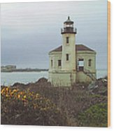 Coquile Lighthouse Wood Print