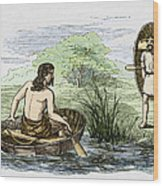 Coracle Boats Of The Ancient Britons Wood Print