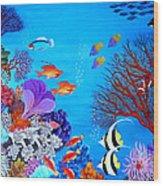 Coral Garden Wood Print