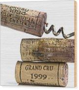 Cork Of French Wine Wood Print by Bernard Jaubert