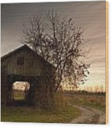 Corn Crib Wood Print