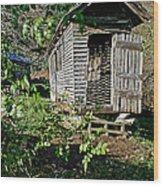 Corn Crib Wood Print