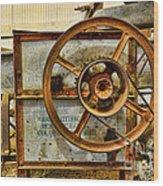 Corn Husker Machine Wood Print
