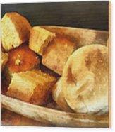 Cornbread And Rolls Wood Print