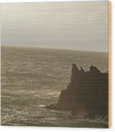 Corneglia Coast Wood Print