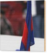 Corner Flag Of Camp Nou Wood Print
