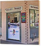 Corner Ice Cream Store Wood Print