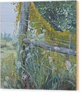 Corner Of Lace And Vine Wood Print