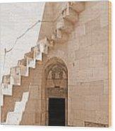 Corner Stairs Wood Print