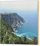 Corniglia Cinque Terre And Vineyards Wood Print