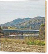 Cornish - Windsor Covered Bridge Wood Print