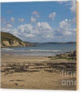 Cornish Seascape Maenporth Wood Print