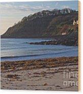 Cornish Seascape Meanporth Wood Print